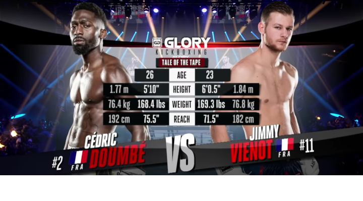 GLORY 60: Cedric Doumbe vs. Jimmy Vienot - Full Fight