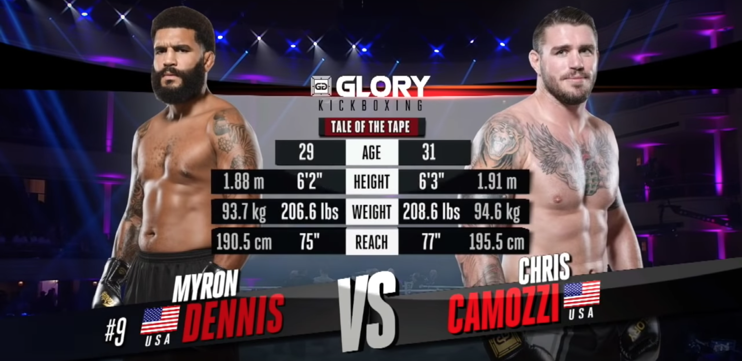 GLORY 61: Chris Camozzi vs. Myron Dennis - Full Fight