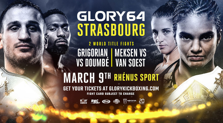 Two World Title Fights Headline GLORY 64 STRASBOURG