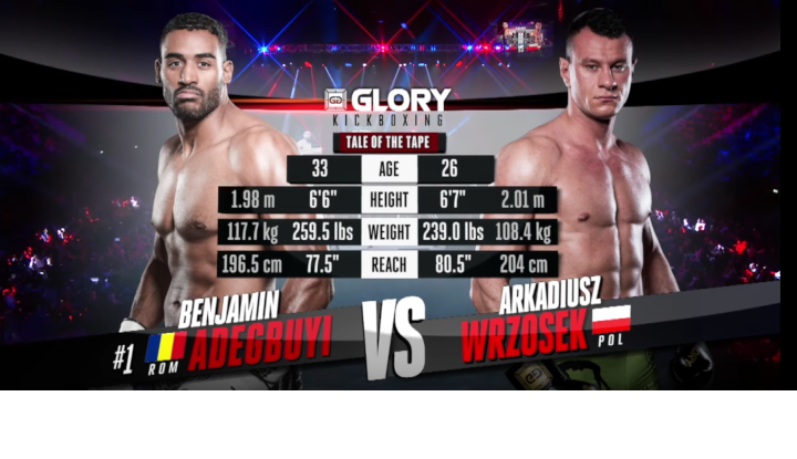 GLORY 62: Benjamin Adegbuyi vs. Arkadiusz Wrzosek (Tournament Quarter-Final) - Full Fight