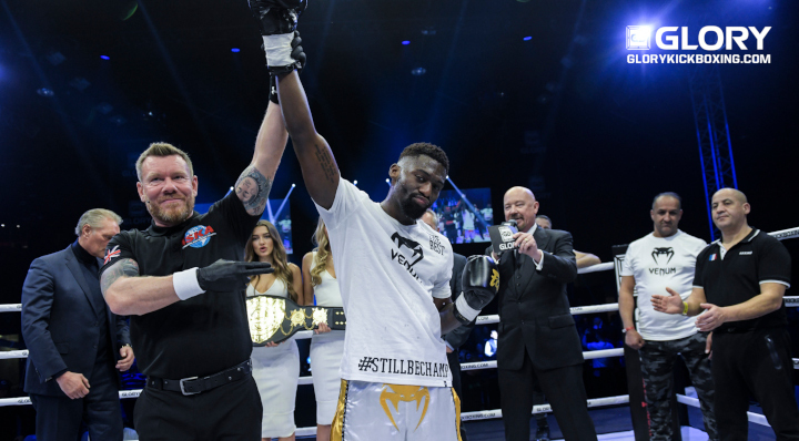 Doumbé stops Grigorian, reclaims welterweight title amid chaotic scenes