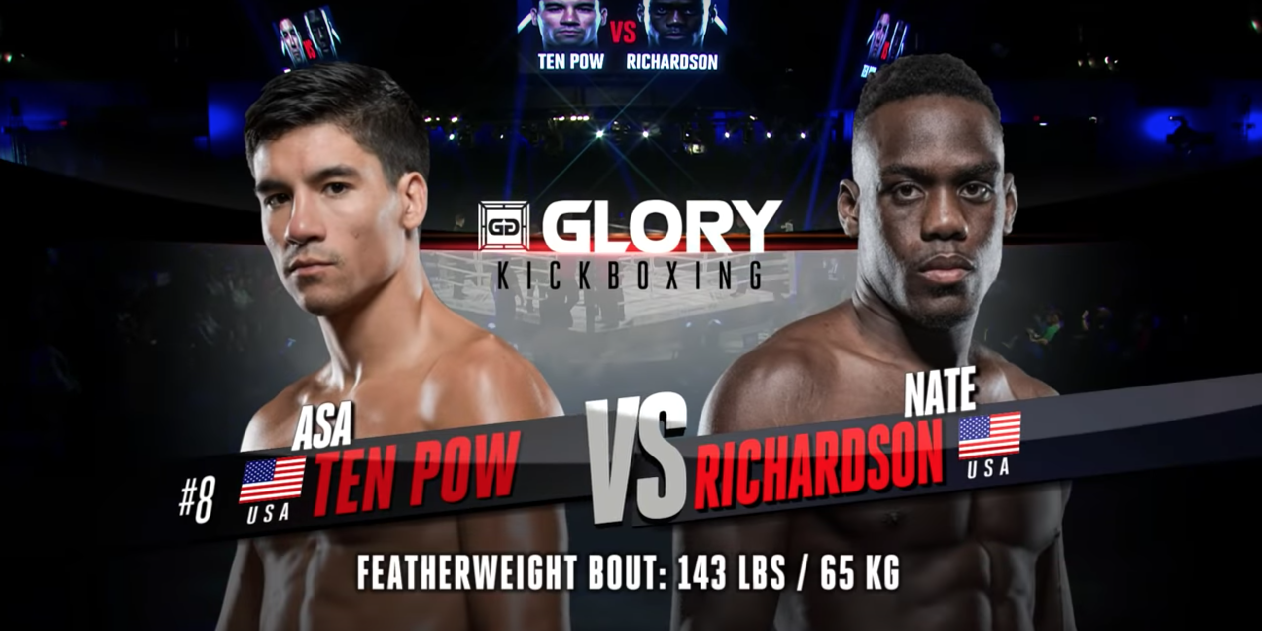 GLORY 63: Asa Ten Pow vs Nate Richardson - Full Fight