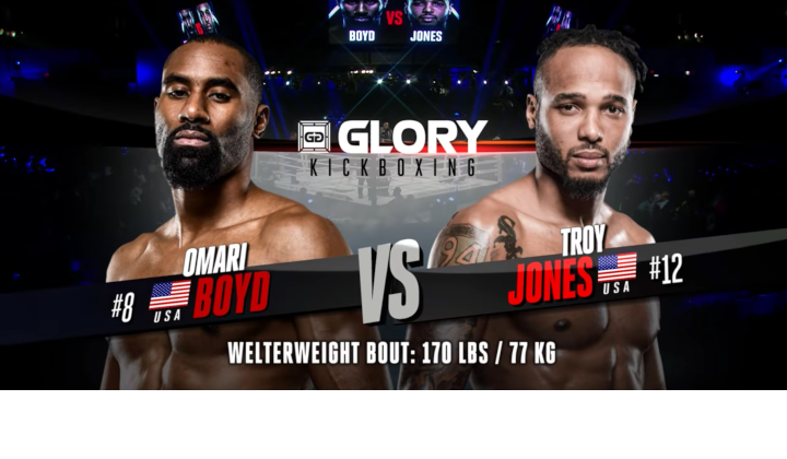 GLORY 63: Omari Boyd vs Troy Jones - Full Fight