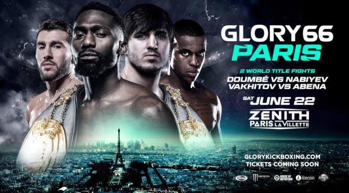 Trois combats pour le titre mondial en tete d'affiche du GLORY 66 PARIS