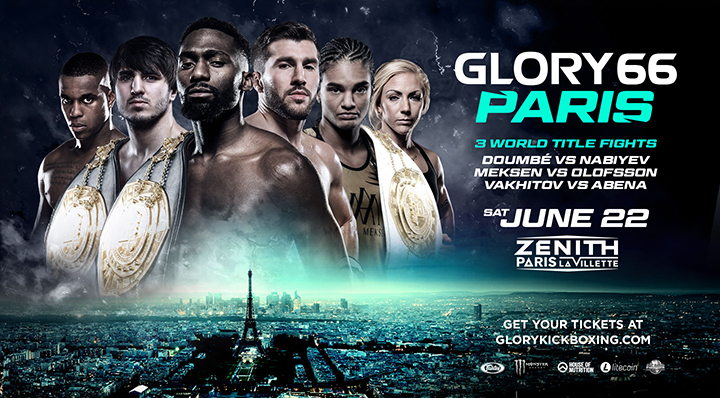 Hard-hitting newcomers Plazibat and Yegoian complete GLORY 66 PARIS card
