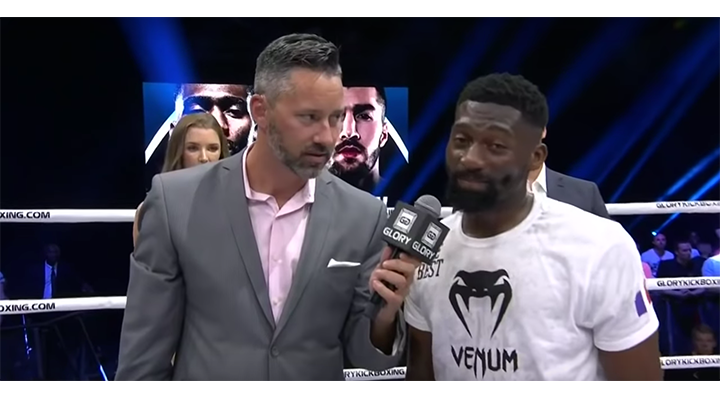 GLORY 66: Cedric Doumbe Post-Fight Interview