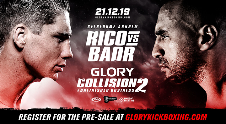Rico Verhoeven and Badr Hari to rematch at GLORY: COLLISION 2
