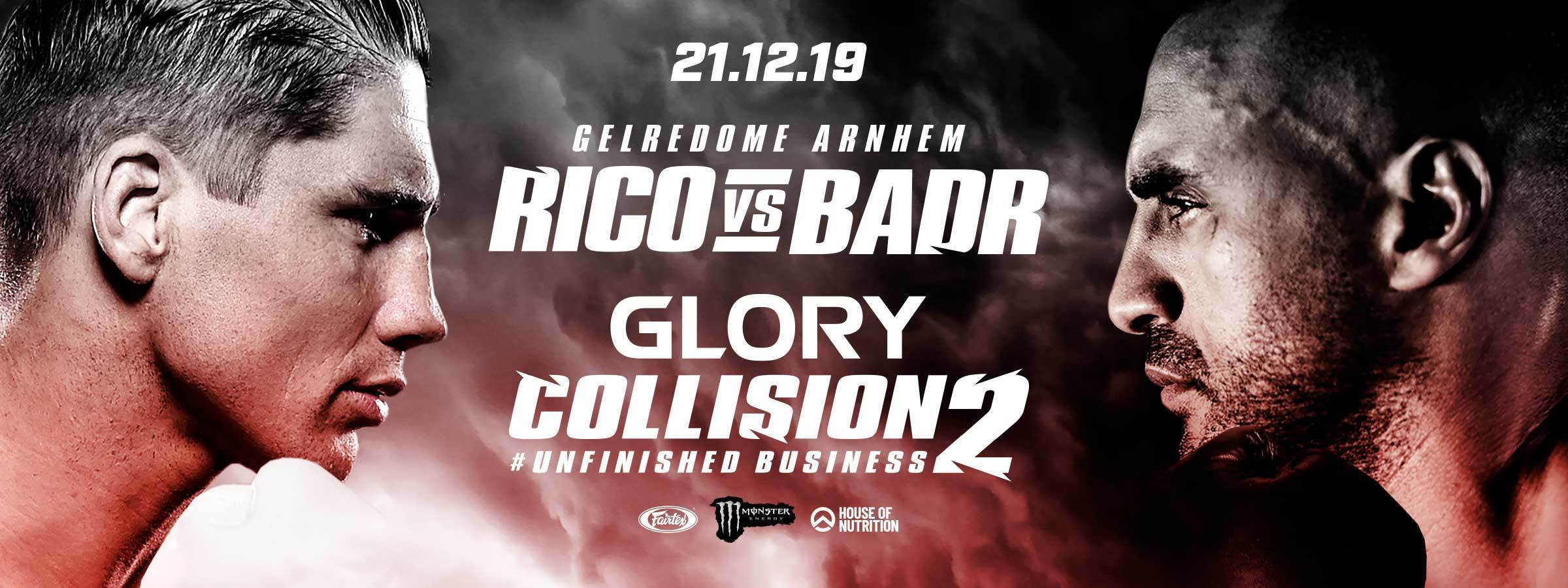 GLORY: COLLISION 2 GENERAL SALE COMMENCES WEDNESDAY