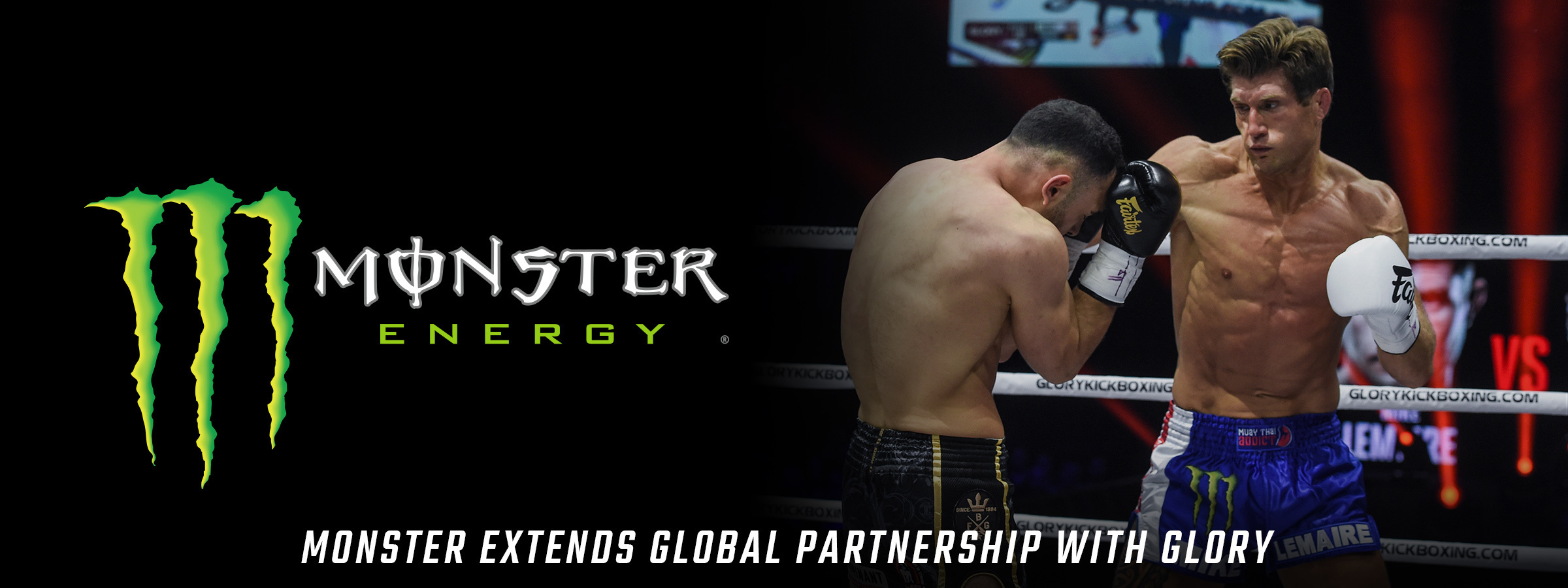 GLORY and Monster Energy extend global partnership