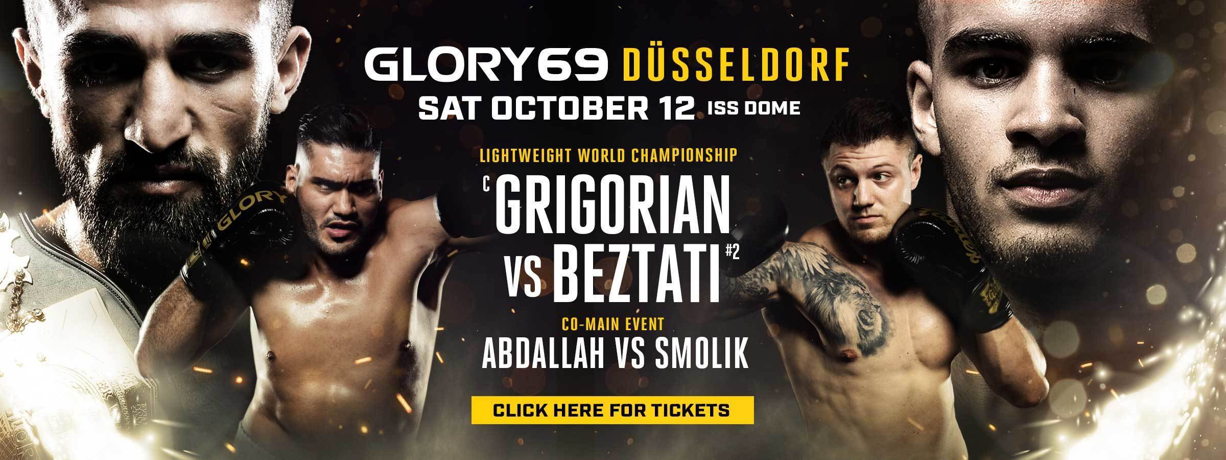GLORY 69 Dusseldorf On Sale