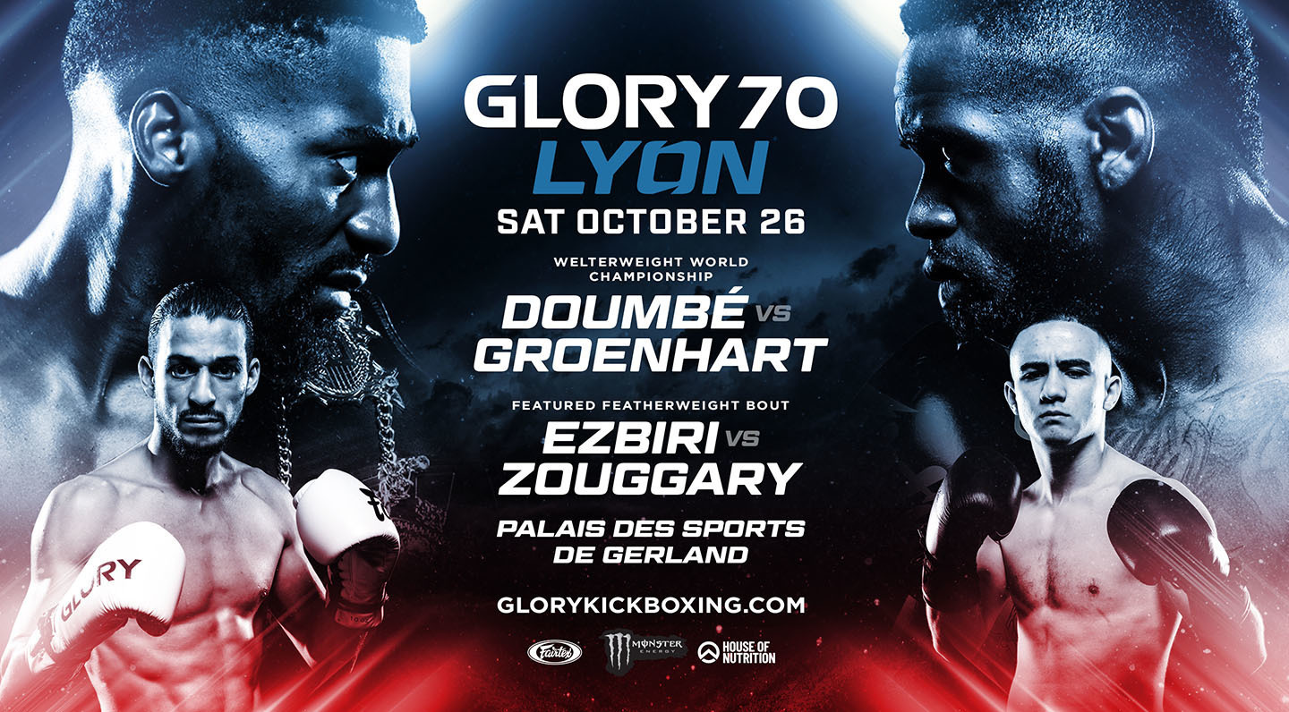 Doumbé vs Groenhart trilogy match headlines GLORY 70 LYON