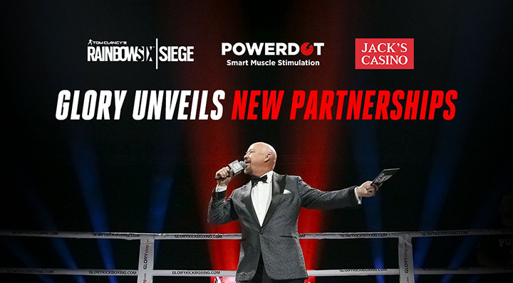 GLORY UNVEILS NEW PARTNERSHIPS  WITH UBISOFT, POWERDOT AND JACK'S CASINO FOR GLORY: COLLISION 2