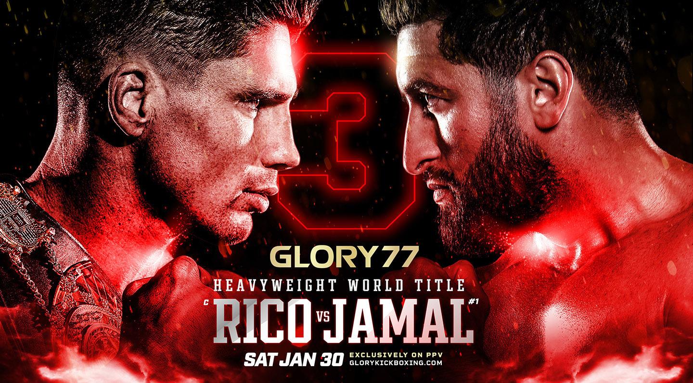 GLORY opent nieuwe jaar met GLORY 77:  Rico Verhoeven vs. Jamal Ben Saddik wereldtitelgevecht zwaargewicht