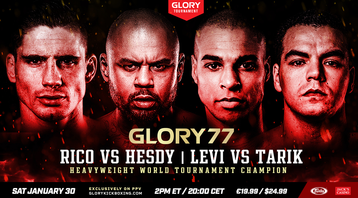 GLORY 77 headlined by Heavyweight World Tournament Champion with Verhoeven vs. Gerges