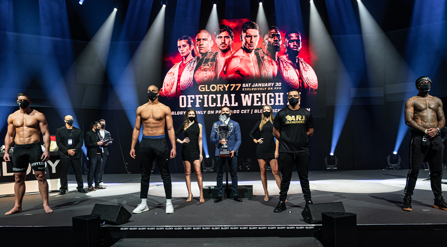 GLORY 77 Weigh-ins: All GLORY fighters ready