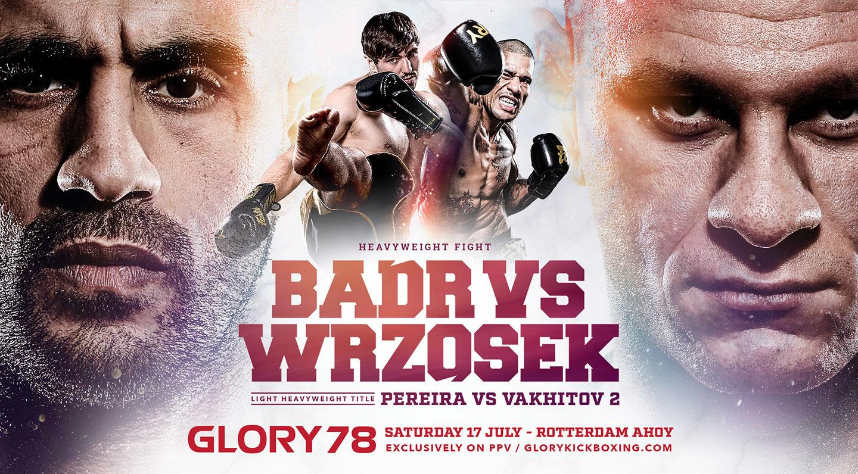 GLORY 78 fight card:  zwaargewicht toptalenten in actie, drie titelgevechten