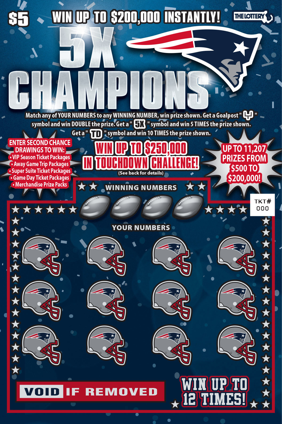 Patriots lotto 2017
